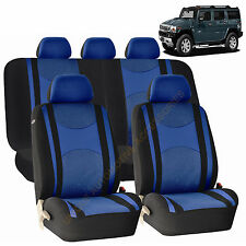 BLUE AIRBAG & SPLIT Bench SEAT COVERS 9pc SET for HUMMER H1 H2 H3