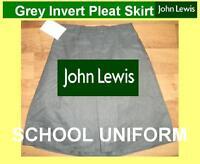"John lewis grey school uniform skirt NEW age 17-18 waist 28""/29""/30"" RRP £14"