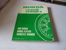 MANUEL REVUE TECHNIQUE D ATELIER HONDA VF 500 F F2 1985-> shop manual