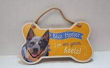 Dog Bone Shaped Wooden Plaque,BLUE HEELER,i'm on your heels,  Made USA