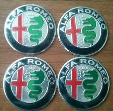 4 pezzi del emblemi NUOVO GIULIA DESIGNO Alfa Romeo 50mm adesivo coppa ruota