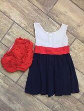 Vintage 50s Handmade Infant Baby Girls Summer Dress Bloomers Set Lot
