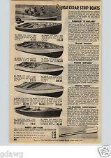 1954 PAPER AD Bowman Cedar Strip Outboard Fishing Boat Rambler Tramp Deluxe