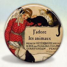 Vintage French Veterinarian Pocket Mirror