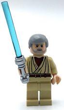 LEGO BEN KENOBI MINIFIGURE FLESH TONE HEAD BLUE LIGHTSABER JEDI FIG
