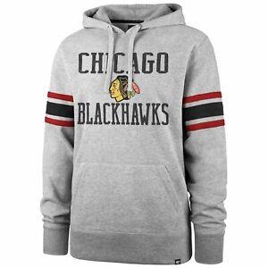'47 Brand NHL Chicago Blackhawks Sleeve Stripe Hoody
