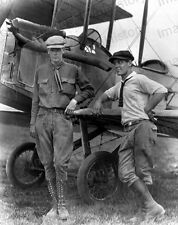 8x10 Print Col Charles Lindbergh Early Image with Bi Plane 1922 #CL10