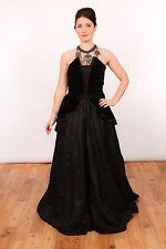 Vestido de noche Vestido de fiesta Vintage Gótico Victoriano Terciopelo Negro Vestido De Boda