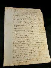 ANTIQUE MANUSCRIPT 1547