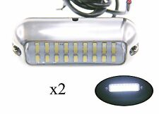 Pactrade Marine 2PCS Boat Pontoon Boat S.S.316 White 27 LED Underwater Light