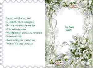 30  Random mixed Wedding Day/Anniversary & Engagement verse inserts..