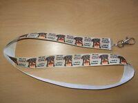 Rottweiler Dog Lanyard Whistle Walk Training Puppy Key ID Love Rottie Handmade