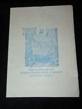 "Vintage ""Casa Fundada En 1725"" Madrid Spain Menu - English Version - 1960's"