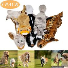 5 PACK Dog Puppy Pet Chew Squeaker Squeaky Funny Sound Plush Toy Play Toys Lot