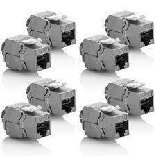 deleyCON 8x CAT 6a Keystone Jack Modul RJ45 STP werkzeuglos Netzwerk LAN Adapter