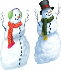 Snowman Scene Setter Christmas Party Decoration 2 pack -1.65m