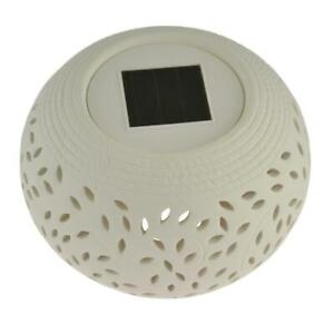 Filigree Solar Powered Table Light With Multi Colour Changing LED Garden Lights