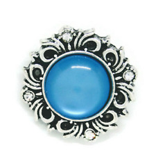 Noosa Chunks Ginger Style Snap Button Charms Blue Moon Wreath 20mm NEW