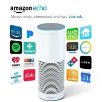 Amazon Echo Smart Speaker Bluetooth WiFi with Alexa 1st Generation - White