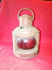 old ships lantern lamp boat yacht marine nautical antique vintage PORT RED