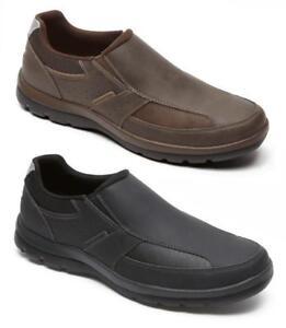 ROCKPORT Men's Stylish Leather Loafers, Black & Brown, Med & Wide EE, Orig. $110