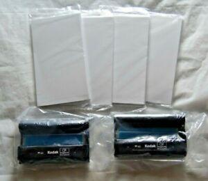 Lot of 2 Kodak Easyshare PH-40 Color Ink Cartridges w/ 4 Paper Packs (80 Sheets)