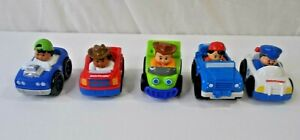 Lot Of 5 Fisher Price Little People Wheelies Cars