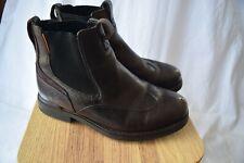 Timberkland pullon boots...dark brown leather...size 7.5W...VGC