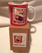 WALLACE AND GROMIT CHRISTMAS POSTAGE STAMP MUGS X 3 COLLECTABLE