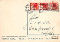 Cartolina Pubblicitaria Autografa - Augusto Micelli - Licemi - Teatro - 1948