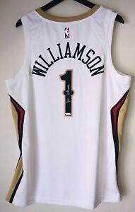 Zion Williamson Signed Pelicans Nike Autograph NBA Auto Swingman Jersey FANATICS