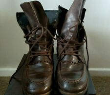 eda54912e7a ALL SAINTS TAN BROWN VINTAGE LEATHER LACE-UP COMBAT MEN'S BOOTS, 9.5/44