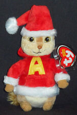 TY ALVIN the CHIPMUNK BEANIE BABY - CHRISTMAS SANTA - MINT with MINT TAG