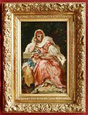 Narcisse DIAZ de la PENA tableau huile orientaliste portrait femme Alger Algérie