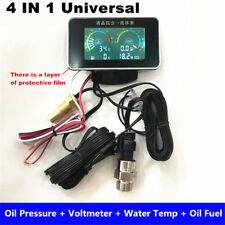 4In1 LCD 12V/24V Car Oil Pressure +Voltmeter +Water Temperature +Oil Fuel Gauge