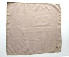 Burberry Bandana Pocket Square Mini Scarf Handkerchief Neckerchief Brown VGC