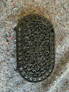 Small decorative pan stand metal trivet black lot NRE120221N