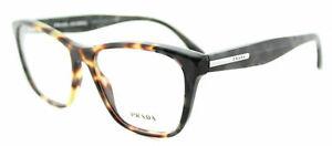 Authentic Prada PR 04TV U6M1O1 Havana Plastic Square Eyeglasses 54mm