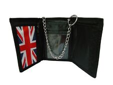 Men's Boys Women's Tri-Fold-Wallet Coin Note ID Holder Chain Secure With Belts