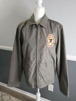Mens NRA Medium Benefactor Member Large Golden Eagle Gray Jacket
