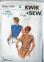 Kwik Sew 1624 Misses Vintage Knit Top Pattern  by Kerstin Martensson Sizes XS~L