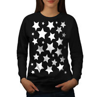 Wellcoda Star Shine Womens Sweatshirt, Pattern Casual Pullover Jumper