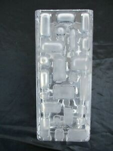 Vase moderniste cristal decor geometrique no daum baccarat modernist crystal