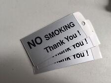 Water Proof 100 x 50mm No Smoking Self Adhesive Sign
