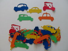 30 Car Die-cuts inPrimary Colours-for Travel Decorations, Scrapbooking, etc