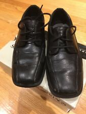 "Deer Stags ""Mike"" Boys Black Lace Up Dress Shoes Size 1.5 M"