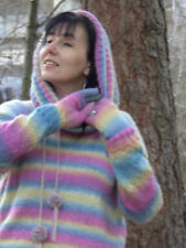 Eva's Designs HAND KNITTED MOHAIR SWEATER (with neck piece, gaiters and gloves)