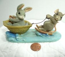 Charming Tails A Day At The Lake Mouse Figurine Bunny 83/803 Fitz and Floyd