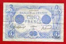 (Ref: V.382) 5 FRANCS BLEU AVRIL 1914 (TTB+)