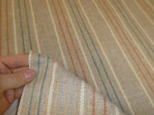NEXT FABRICS - BRUSHED STRIPE NATURAL Wool /Tweed Effect Weave Upholstery Fabric